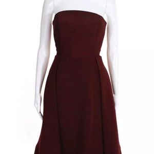 C/MEO Collective Making Waves Dress Burgundy SizeM